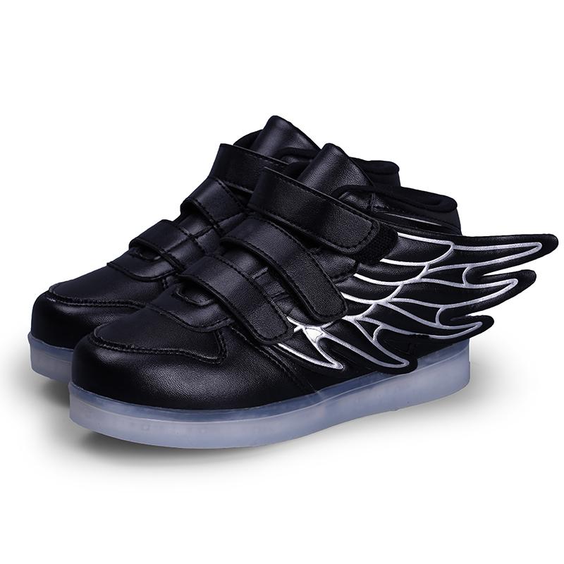d809a81cbcd8 Rocket Boots Black for Kids – High Top LED Shoes