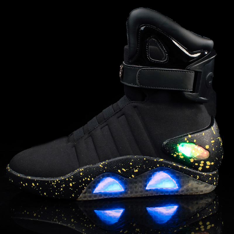 Mcfly Black – High Top LED Shoes   Glow
