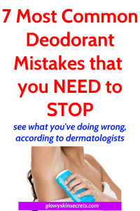 7 most common deodorant mistakes you need to stop