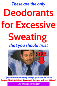 A reviewed list of the best deodorant for heavy sweaters, best deodorant for excessive sweating