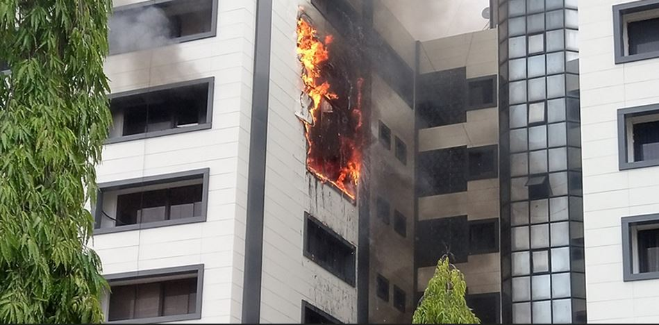 Fire Guts Accountant-General's's Office In Abuja (Photo)