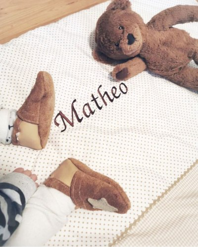 Babydecke mit gesticktem Namen