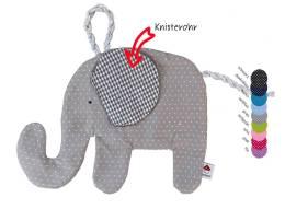 Klicken Sie hier um zu unserem Schmusetier Elefant in gepunktetem Stoff zu gelangen
