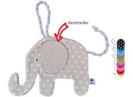 Hier gelangen Sie zu unserem Schmusetier Elefant in Sternenstoff