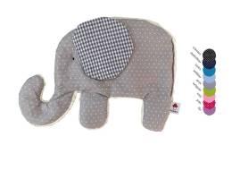 Hier gelangen Sie zu unserem Waermekissen Elefant in grau gepunktetem Stoff