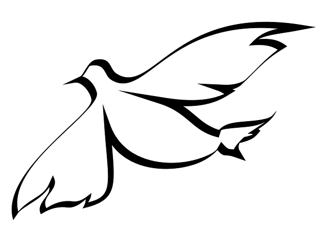 Taube Taufe Gedichte und Vorlage