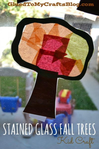 stained glass trees kid craft