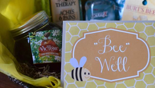 Honey, Bee Well Gift Basket Idea & Free Printable