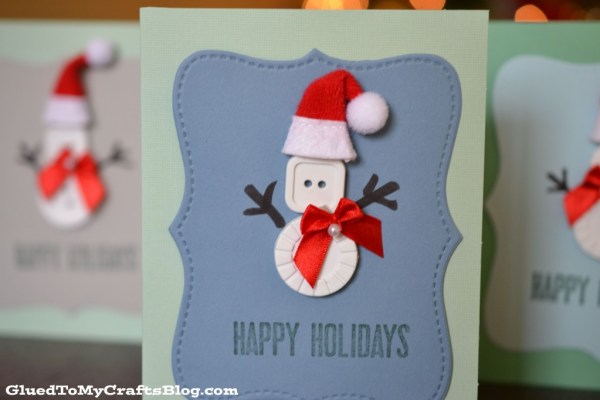 Snowman Button Cards