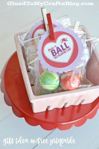 Have A Ball This Valentine's Day - Gift Idea w/Free Printable