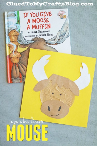 Cupcake Liner Moose - Kid Craft
