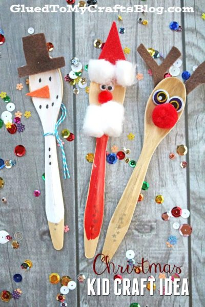 Wooden Spoon Christmas Friends - Kid Craft