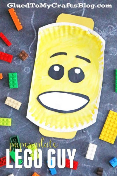 Paper Plate Lego - Kid Craft