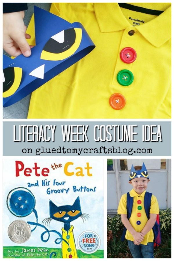 Groovy Buttons - Pete The Cat Costume Idea