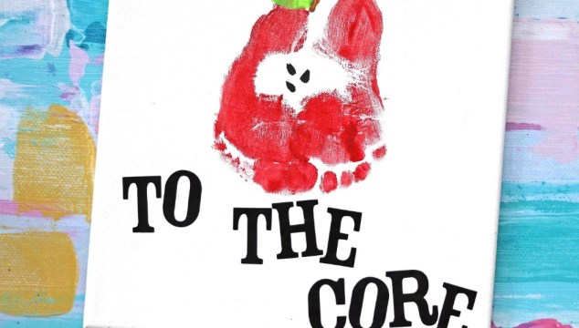 Love You To The Core – Footprint Apple Keepsake Idea