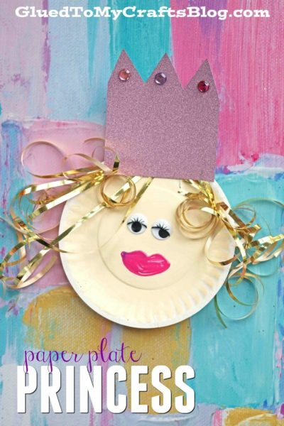 Simple Paper Plate Princess - Kid Craft