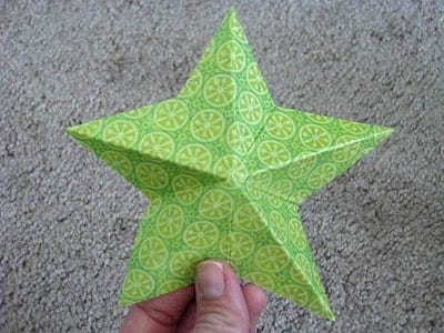 finished 3d paper star