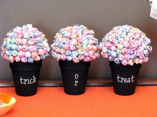 trick or treat lollipop trees