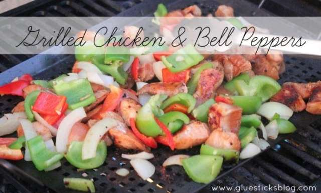 chicken and grilled peppers