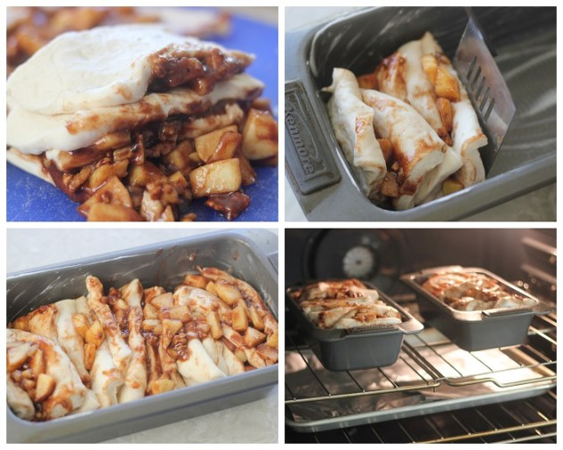 This apple cinnamon bread is a delicious light, pull apart bread with diced apples, a buttery cinnamon filling, chopped walnuts. Drizzled with a sugary glaze it's a family tradition for us, make it one for your family too.