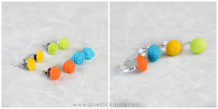 DIY cabochon jewelry and flowers
