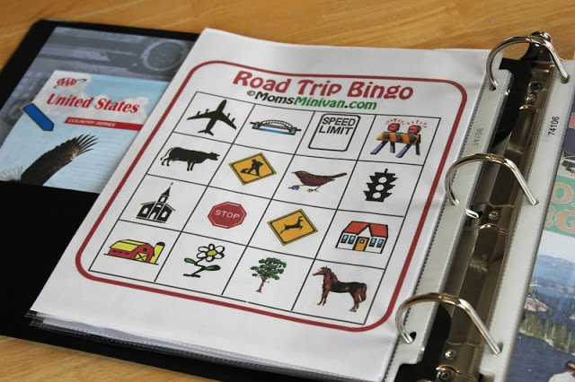 Road Trip Binders for Kids gluesticksblog.com