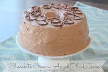 Chocolate Cream Angel Food Cake (Fat Free!)