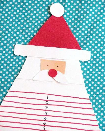 This darling Santa Christmas Countdown is the perfect activity for kids! Trim Santa's beard a little bit every day until Christmas Day!