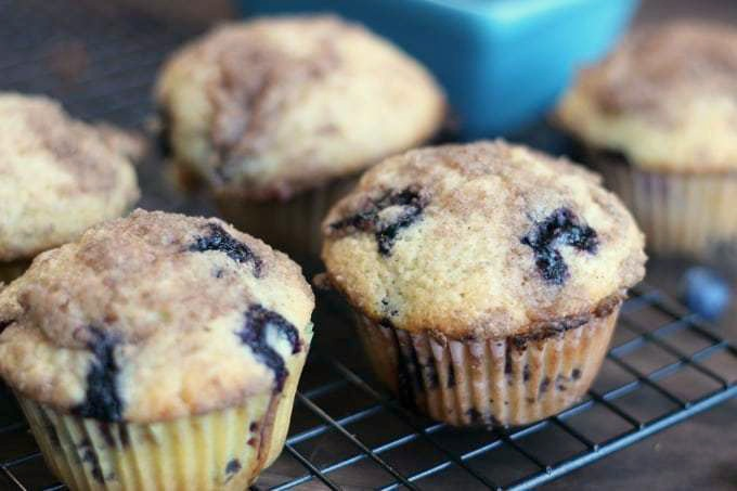 This delicious blueberry crumb muffins recipe (made with fresh OR frozen blueberries) with a crumb topping is simply the best!