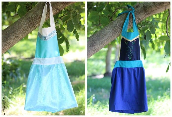 Elsa Amp Anna Dress Up Aprons Tutorial Holiday Gift Idea