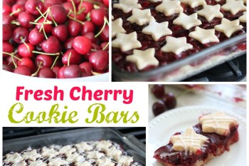 Fresh Cherry Cookie Bars