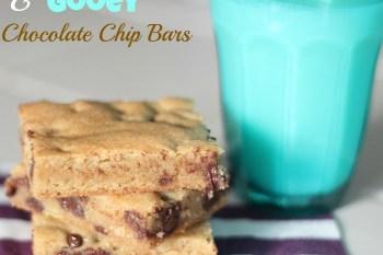 Thick & Gooey Chocolate Chip Bars