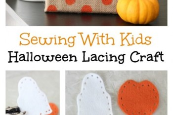 Kids Lacing Craft {Printable Template}