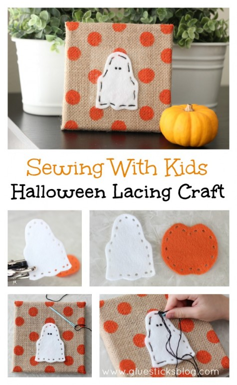 Halloween Lacing Craft