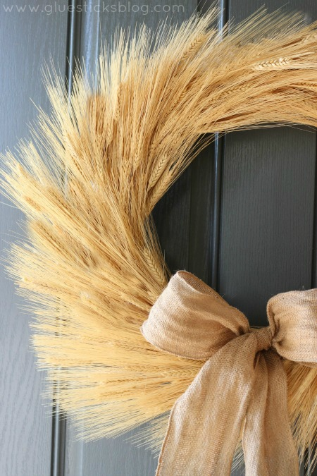 Harvest Wheat Wreath by Gluesticks