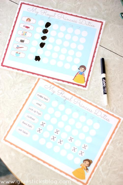 Dry Erase Chore Charts