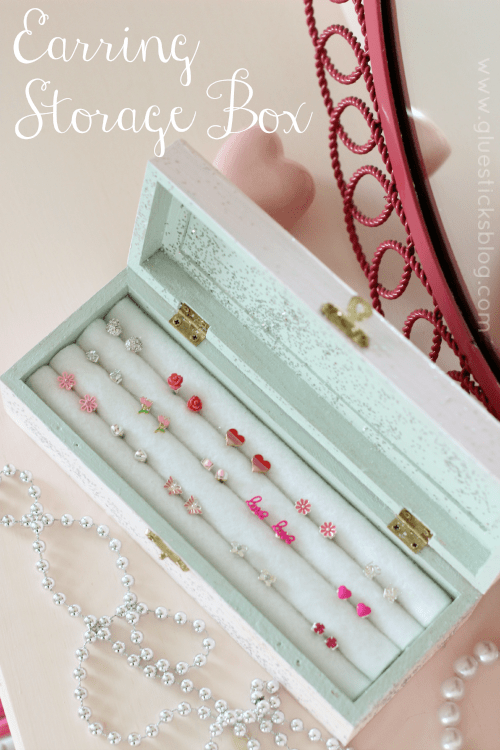 Make An Earring Storage Box For 5 Using Pencils And Felt