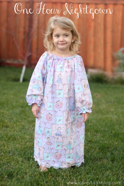 One hour night gown pattern