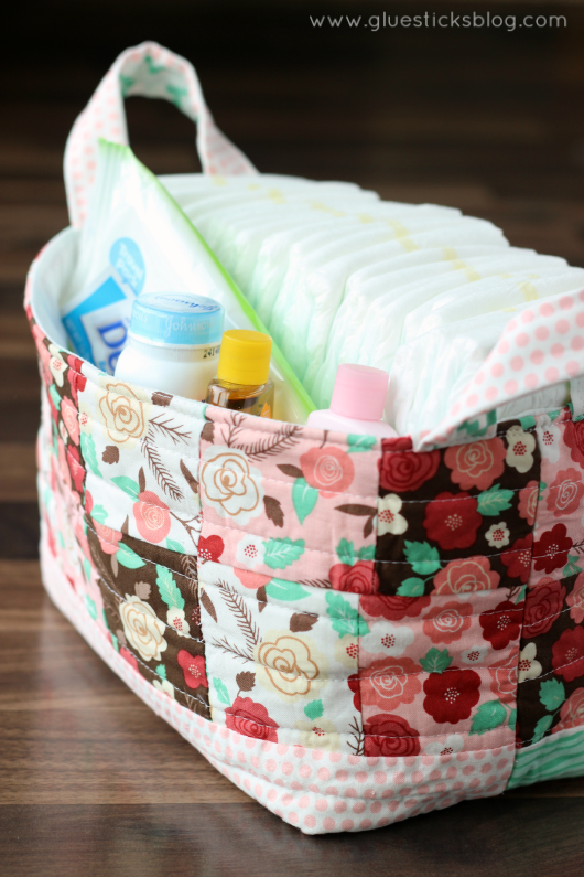 fabric gift basket tutorial