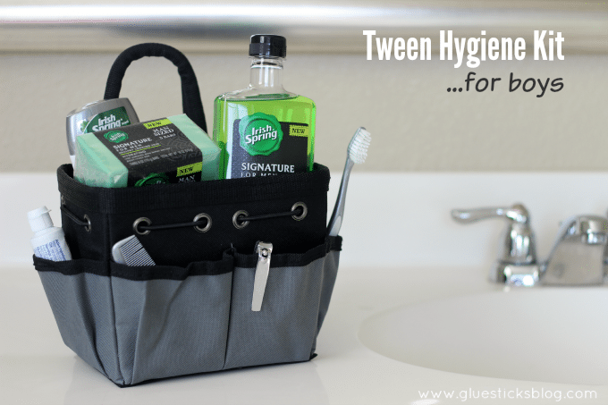 Tween Hygiene Kit For Boys Gluesticks