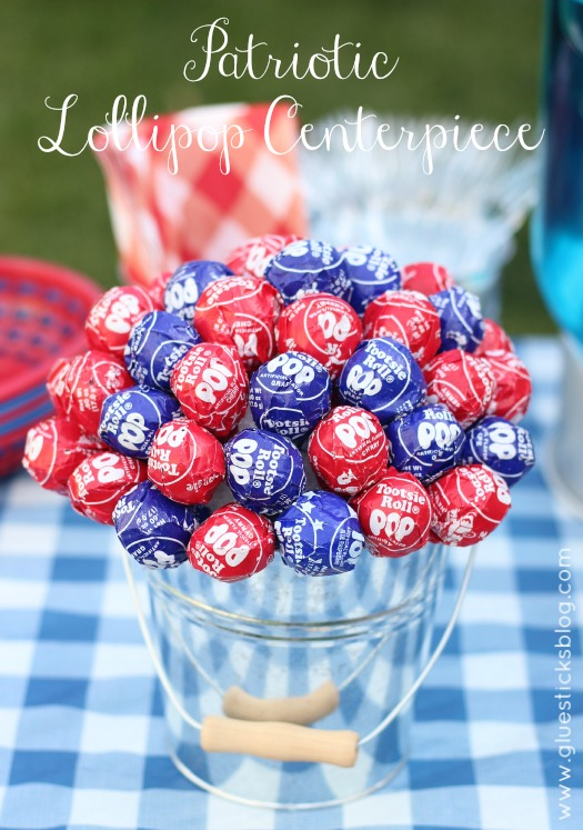 Craft: Patriotic Lollipop Centerpiece by Gluesticks