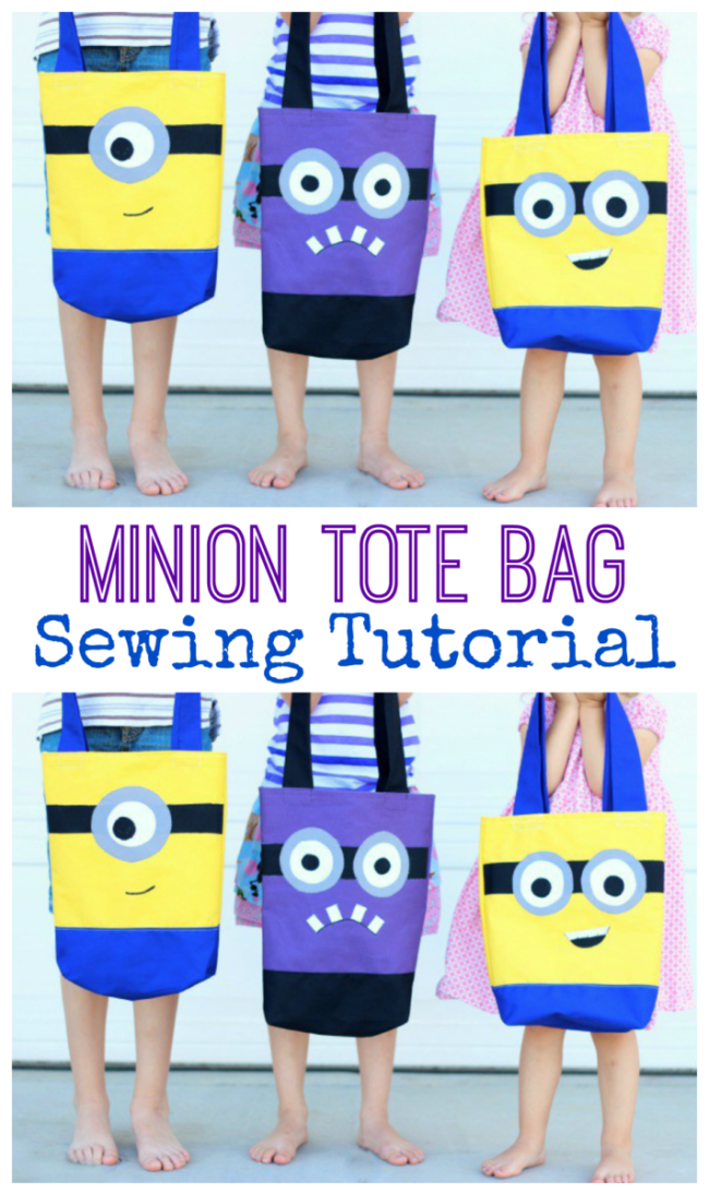 Make a DIY Minion Tote Bag that is perfect for trips to the pool, a library tote, or even a preschool book bag. The kids drew pictures of their favorite Minion characters and I thought it would be fun to transform those guys into fun summer tote bags!