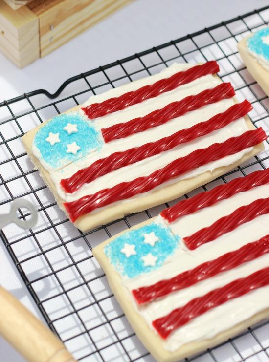 patriotic flag cookies
