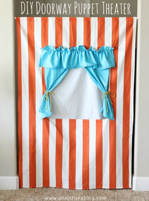Diy Doorway Puppet Theater Tutorial Hangs In Any Doorway