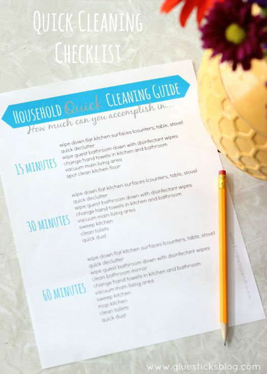 Quick Cleaning Checklist