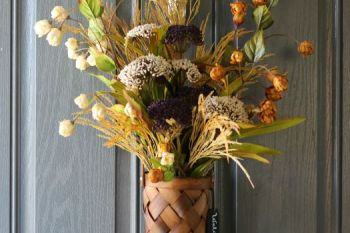 Autumn Door Flower Arrangement