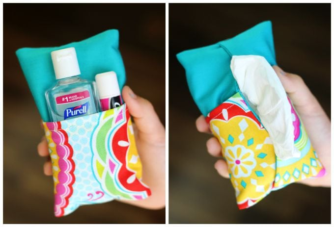 Sewing tutorial: Double sided tissue pouch holder