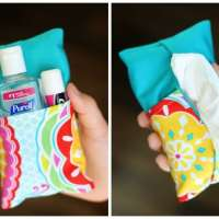 Sewing pattern: Double sided tissue pouch holder