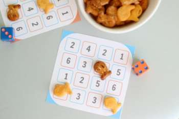 Number Dash Printable Dice Game