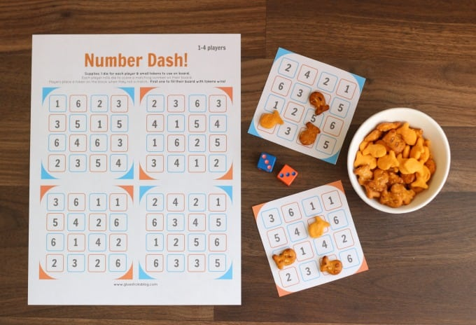Number Dash Dice Game